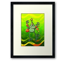Christmas Decorations for a Frog Framed Print
