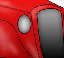Retro Vintage Red Car Sticker