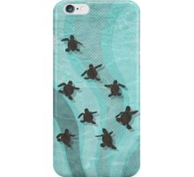 Loggerhead Sea Turtle Hatchlings iPhone Case/Skin