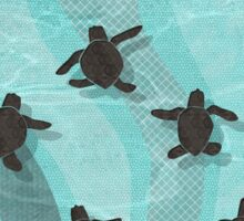 Loggerhead Sea Turtle Hatchlings Sticker