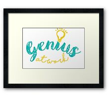 Genius At Work Framed Print