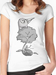 A Bird on a Tree Women's Fitted Scoop T-Shirt