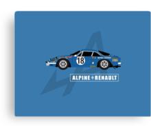 Alpine A110 Rallycar Canvas Print