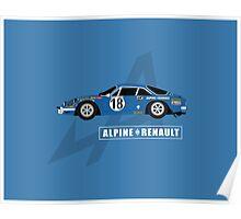 Alpine A110 Rallycar Poster