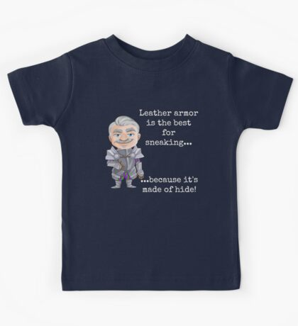 Punny Leather Armor Knight Kids Tee