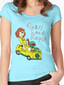 April and Raph Women's Fitted Scoop T-Shirt