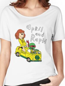 April and Raph Women's Relaxed Fit T-Shirt