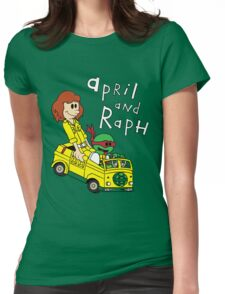 April and Raph Womens Fitted T-Shirt