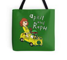 April and Raph Tote Bag