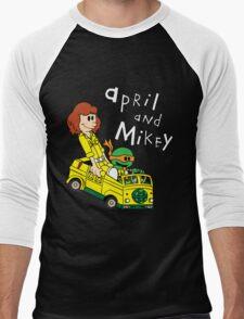 April and Mikey Men's Baseball ¾ T-Shirt
