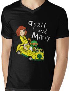 April and Mikey Mens V-Neck T-Shirt