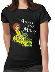April and Mikey Womens Fitted T-Shirt