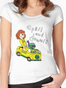 April and Donnie Women's Fitted Scoop T-Shirt
