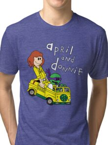 April and Donnie Tri-blend T-Shirt
