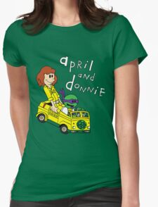 April and Donnie Womens Fitted T-Shirt