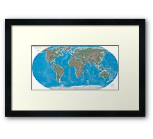 Geography cheat Framed Print