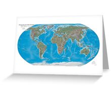 Geography cheat Greeting Card
