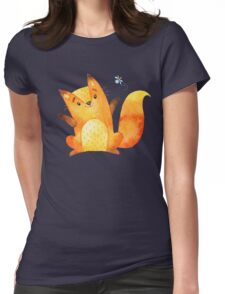 Cute Adorable Watercolor Woodland Baby Fox Womens Fitted T-Shirt