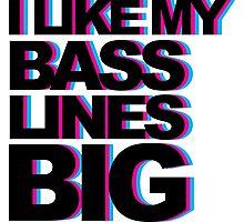Bass Lines Big Photographic Print