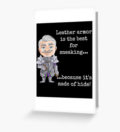 Punny Leather Armor Knight Greeting Card
