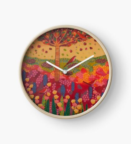 Woman with Birds Clock