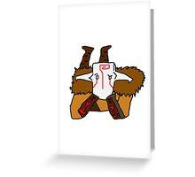 Juggernaut Greeting Card