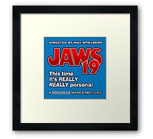 Jaws 19 - This time it's really really personal (Back to the Future) Framed Print