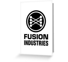 Fusion Industries - Back to the Future (Black) Greeting Card