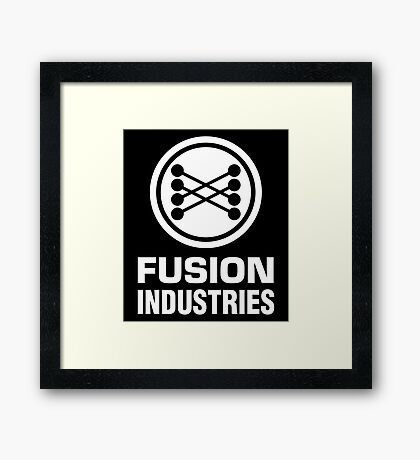 Fusion Industries - Back to the Future (White) Framed Print