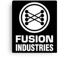 Fusion Industries - Back to the Future (White) Canvas Print