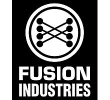 Fusion Industries - Back to the Future (White) Photographic Print