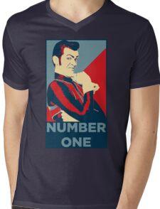 Number One Mens V-Neck T-Shirt