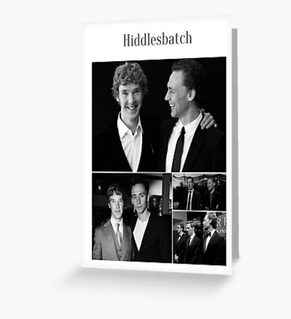 Benedict Cumberbatch and Tom Hiddleston Greeting Card