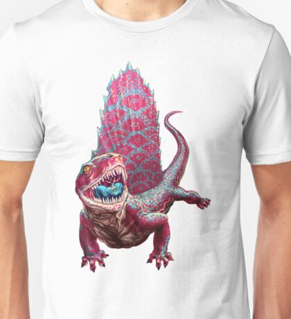 Pink Dimetrodon Unisex T-Shirt
