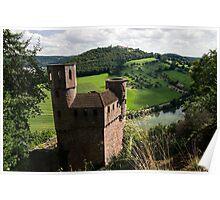 Burg Schadeck in Neckarsteinach, Germany Poster
