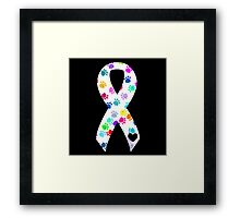 Pawprint Ribbon Framed Print