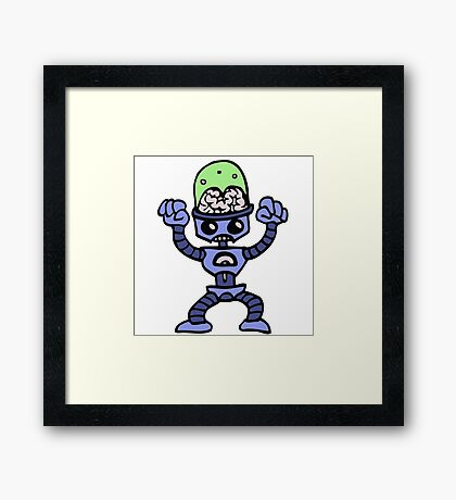 robot android funny Framed Print