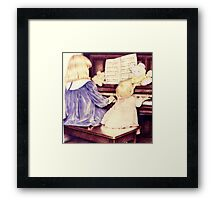 The Piano Players Framed Print