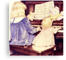 The Piano Players Canvas Print