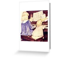 The Piano Players Greeting Card