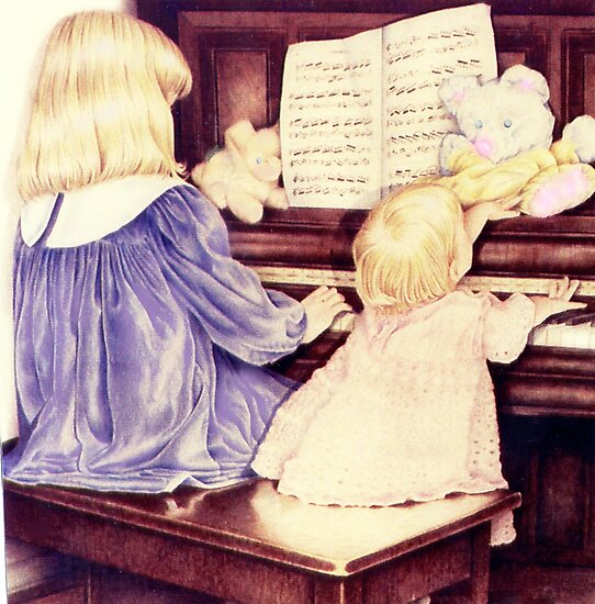 The Piano Players by Margaret Harris