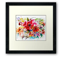 """ Watercolor garden II "" Framed Print"