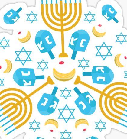 Hanukkah Pattern Sticker