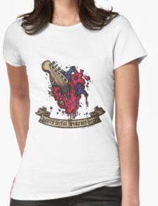 Heavy metal broke my heart! Womens Fitted T-Shirt