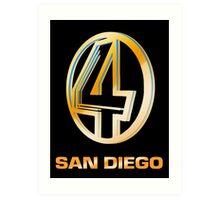 Channel 4 San Diego (Gold) Art Print