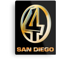 Channel 4 San Diego (Gold) Metal Print