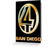 Channel 4 San Diego (Gold) Greeting Card
