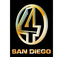 Channel 4 San Diego (Gold) Photographic Print