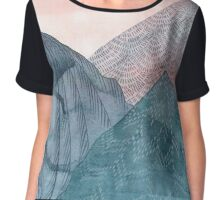 Under and Oér The Wild Mountains Chiffon Top
