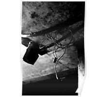 Earphones Hanging from the Ceiling in One Creepy Basement Poster